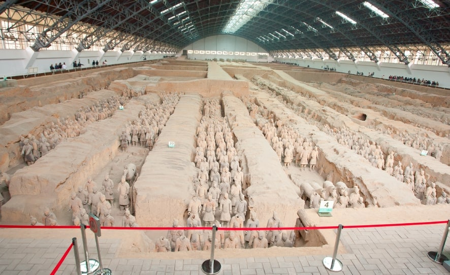 Terrakottahæren - en hær af soldater, heste og vogne i ler - Risskov Rejser