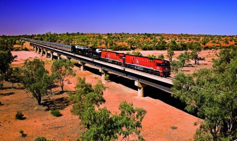 Togtur med The Ghan tværs gennem Australien