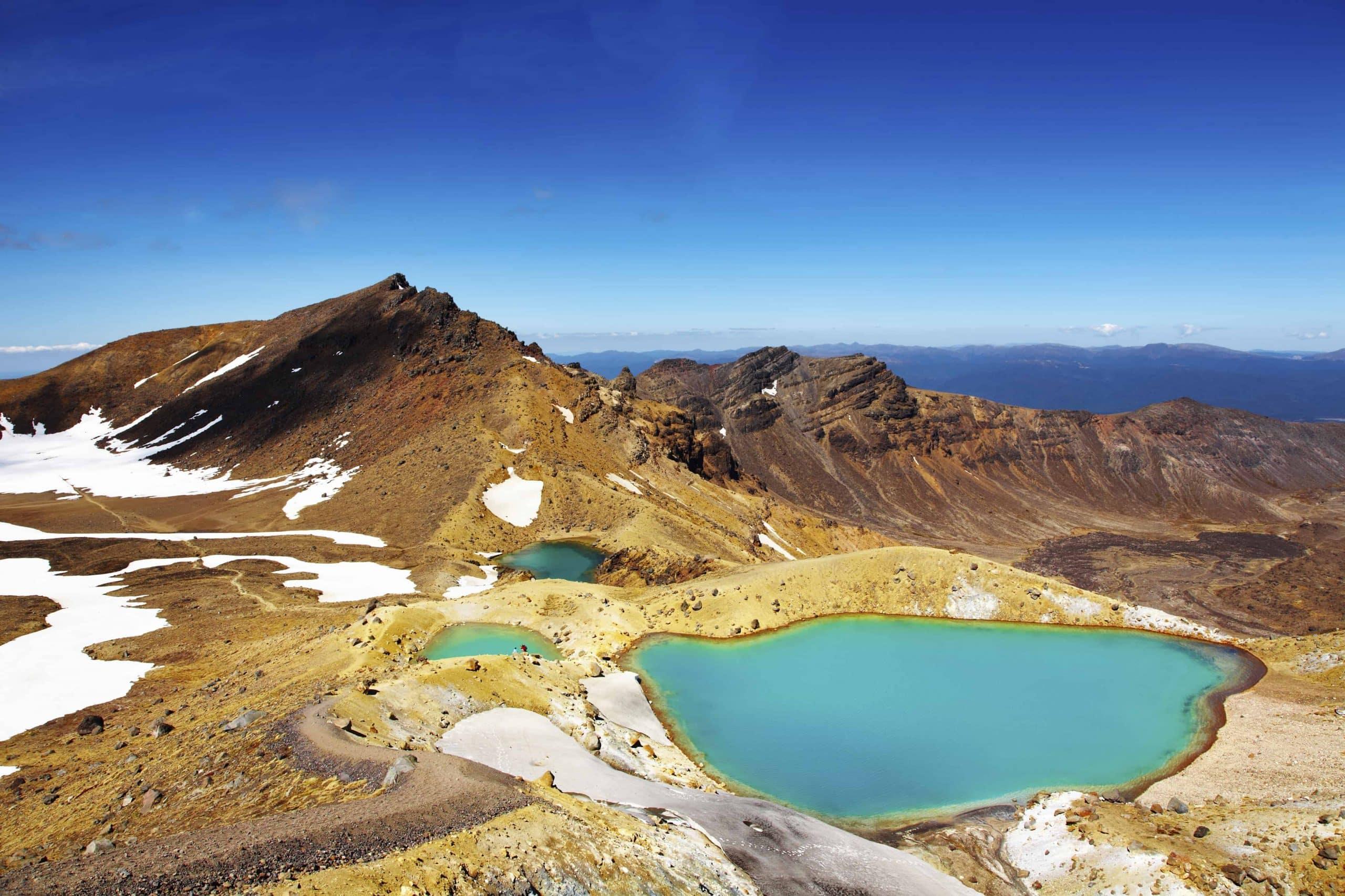 Emerald Lakes i Tongario National Park - Risskov Rejser