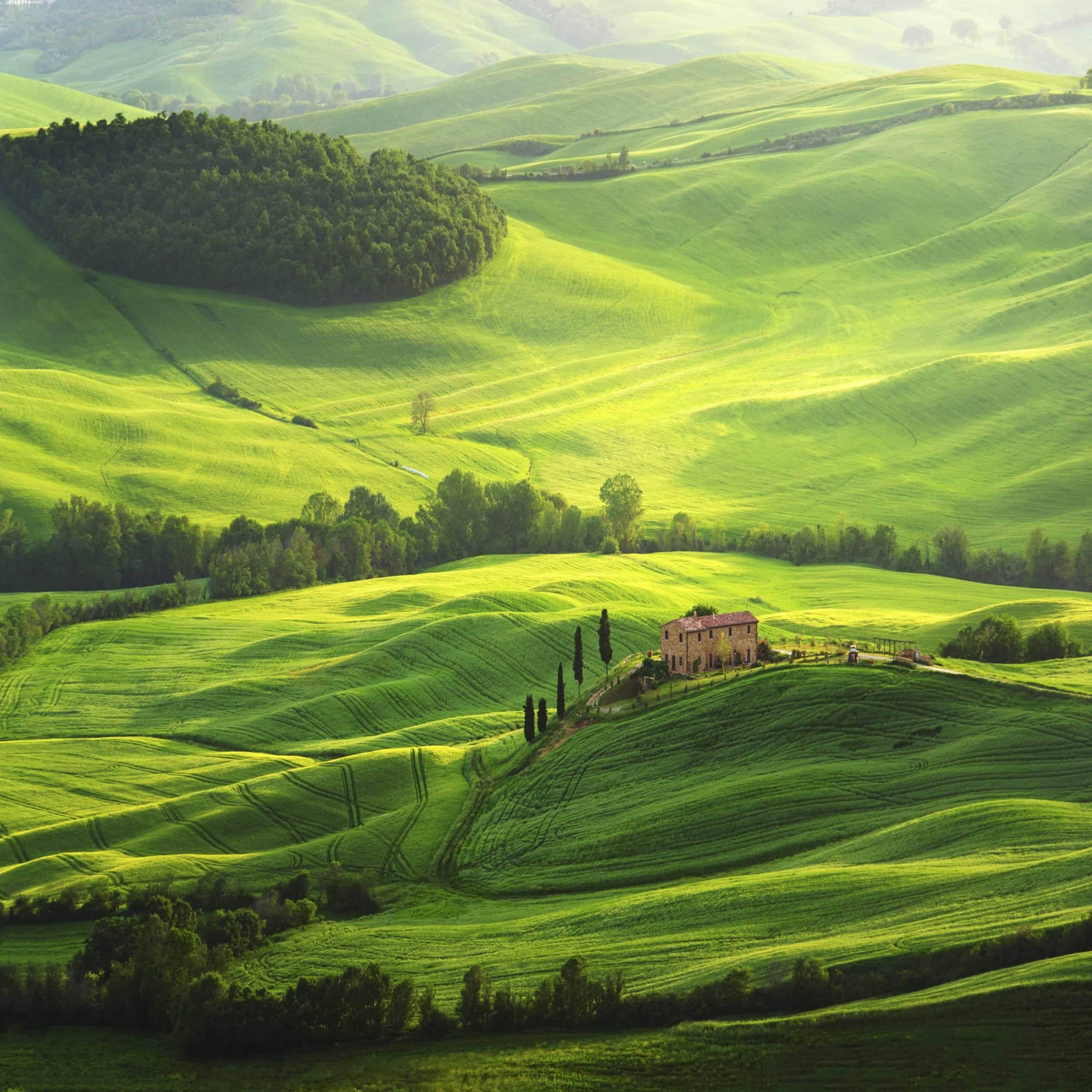 Typisk Toscansk landskab