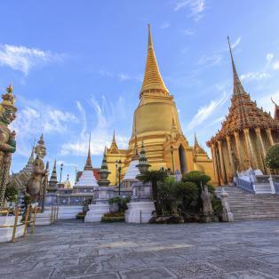 Wat Phra Kaew templet i Grand Palace Bangkok