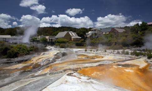 Det termiske område Whakarewarewa ved Rotorua - Risskov Rejser