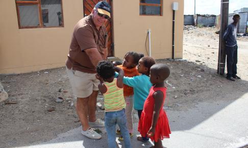 Børn i township