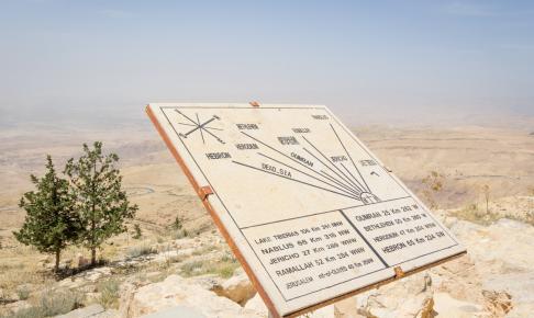 Map on Nebo Jordan