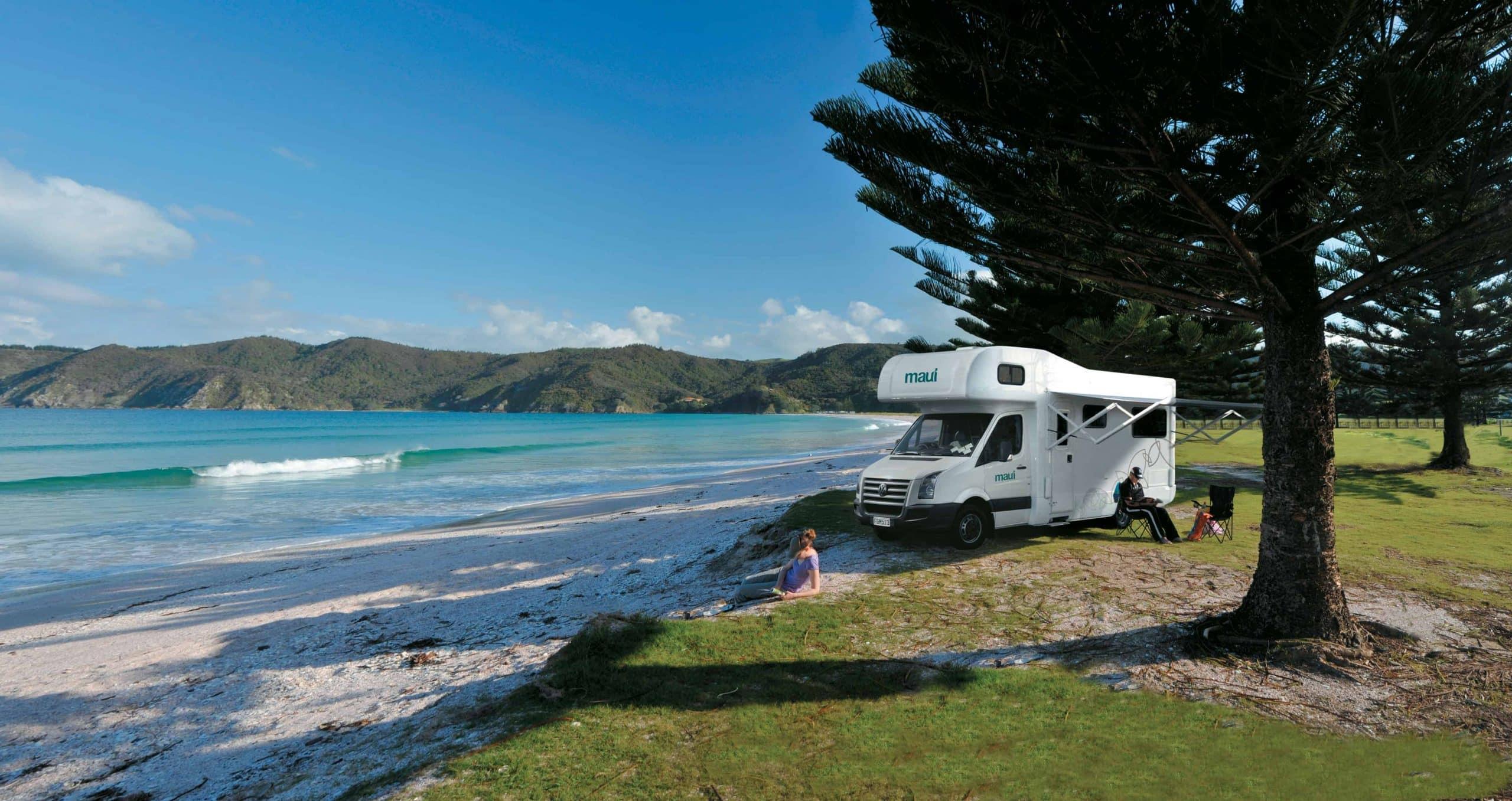 Motorhome Maui Beach New Zealand
