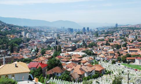 Sarajevo Skyline - Risskov Rejser
