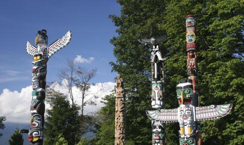 Totempæle i det vestlige Canada - Risskov Rejser