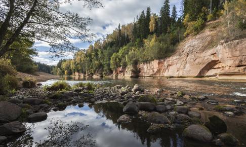 Floden Gauja i Letland - Risskov Rejser