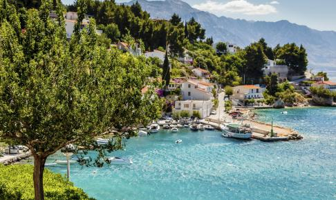 Beautiful Adriatic Bay and the Village near Split, Croatia - Risskov Rejser