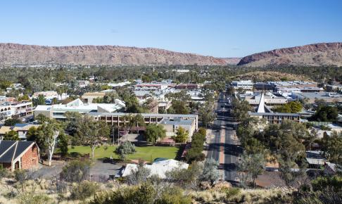 Alice Springs i den røde ørken