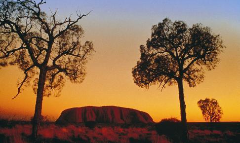 Ayers Rock/Uluru i den røde ørken