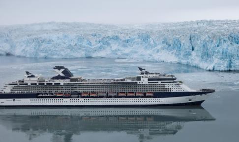 Celebrity Millennium ved Hubbard Glacier - Risskov Rejser