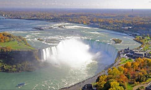 Niagara Falls på grænsen mellem USA og Canada - Risskov Rejser