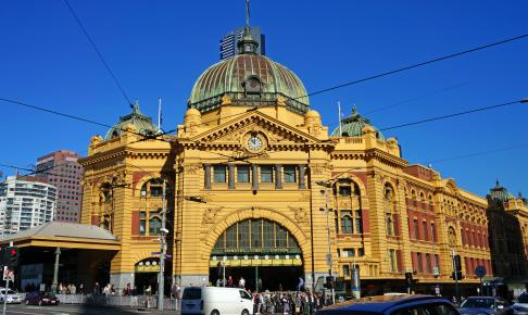 Flinders Street Station i Melbourne - Risskov Rejser