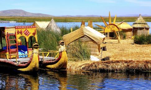 Flydende sivø på Titicaca-søen - Risskov Rejser