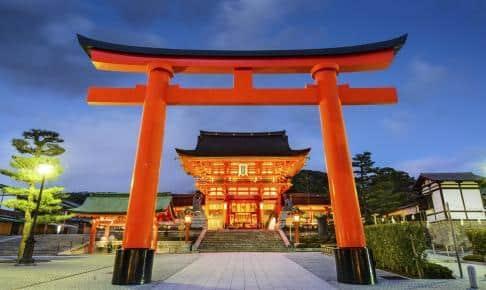 Fushimi Inari-templet som er kendt for sine torri-porte - Risskov Rejser