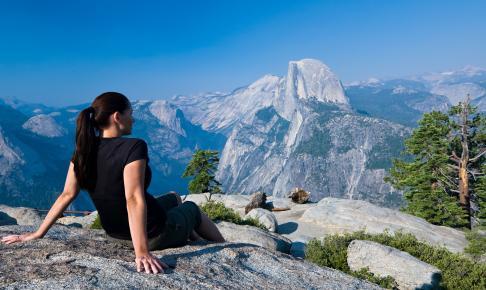 Udsigt over Half Dome i Yosemite National Park - Risskov Rejser