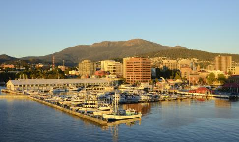 Udsigt over Sullivans havn i Hobart - Risskov Rejser