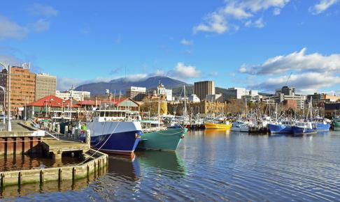 Hobart på Tasmanien
