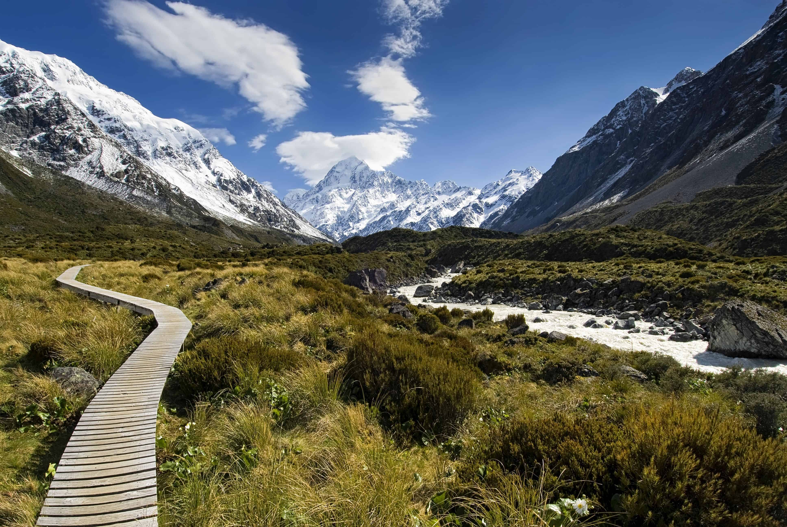 Hooker Valley med udsigt til Mt Cook - Risskov Rejser