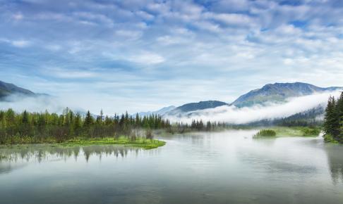 Morgenlandskab over Alaska - Risskov Rejser