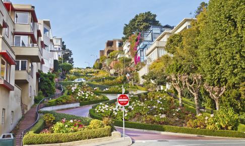 Lombard Street i San Francisco - Risskov Rejser