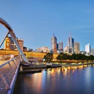 Melbourne om aftenen - Australien - Risskov Rejser