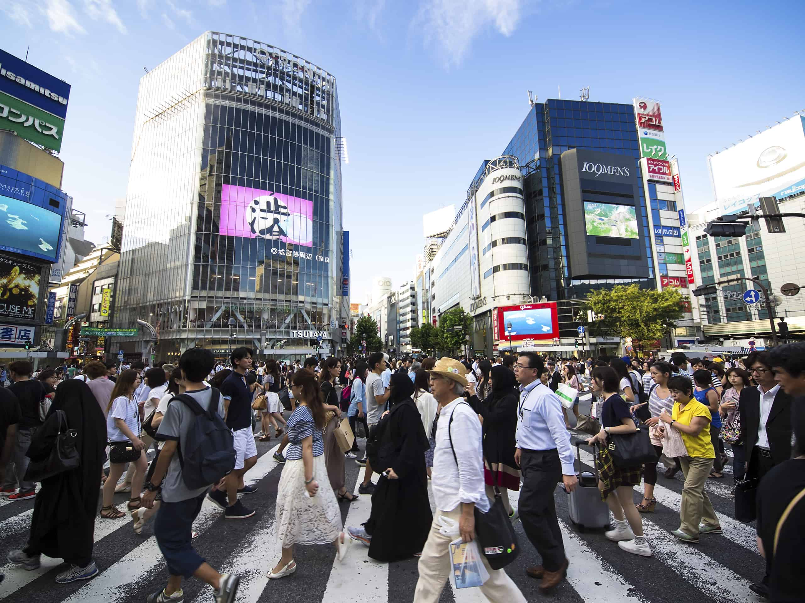 Verdens mest berømte lyskryds, Shibuya, - Risskov Rejser