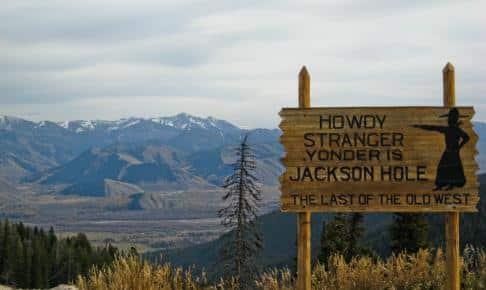 Skilt ved Jackson Hole - Risskov Rejser