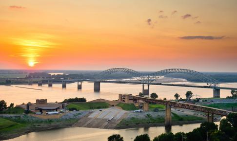 Memphis og Mississippi-floden