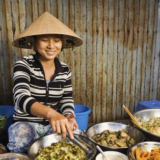 Vietnameser på marked