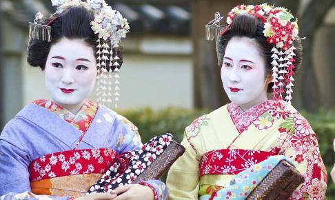 Geishaer i Gion-distriktet i Tokyo - Risskov Rejser