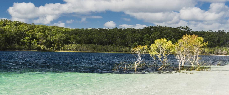 Lake McKenzie på Fraser Island