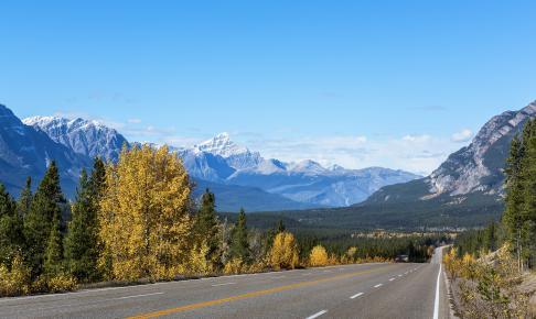 Selv en køretur i Rocky Mountains er en stor oplevelse - Risskov Rejser
