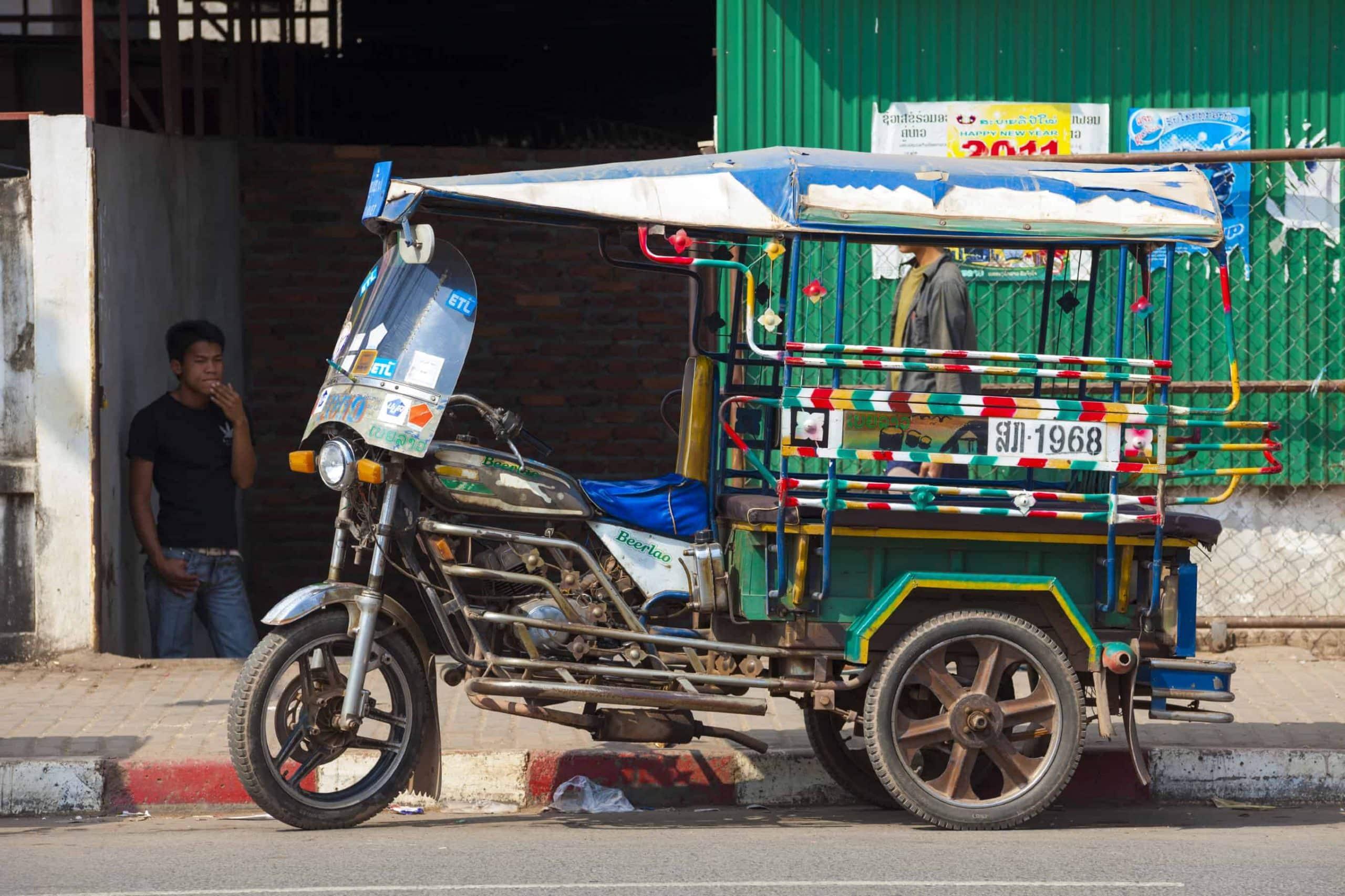 Tuk-tuk i Vientiane - Risskov Rejser
