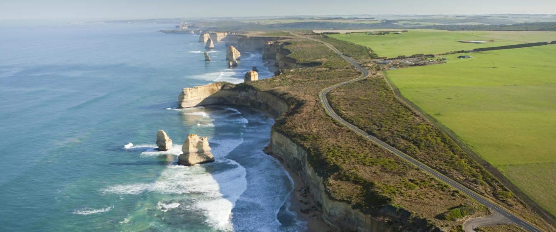 View over Great Ocean Road