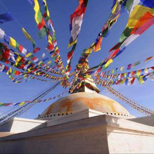 Boudhanath Bedeflag Nepal - Risskov Rejser