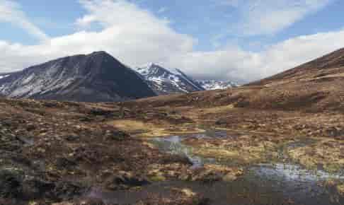 Rudnrejsen til Skotland går til Cairmgorm Mountains