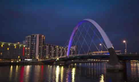 Glasgow med River Clyde