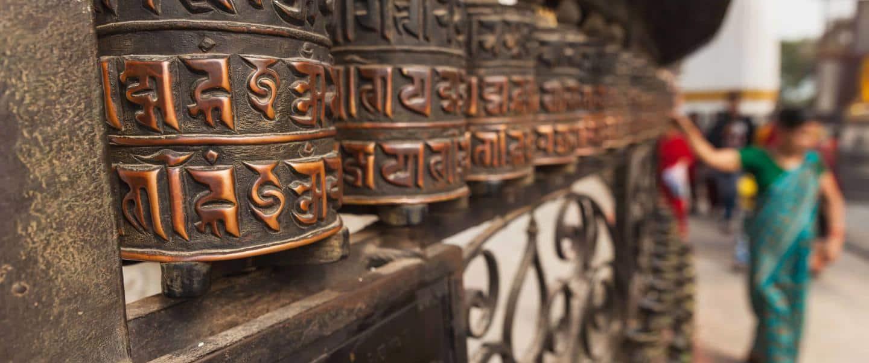 Tibetan prayer wheels - Risskov Rejser