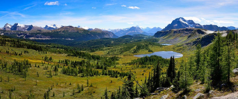 Panorama udsigt af klipper i Canada - Risskov Rejser