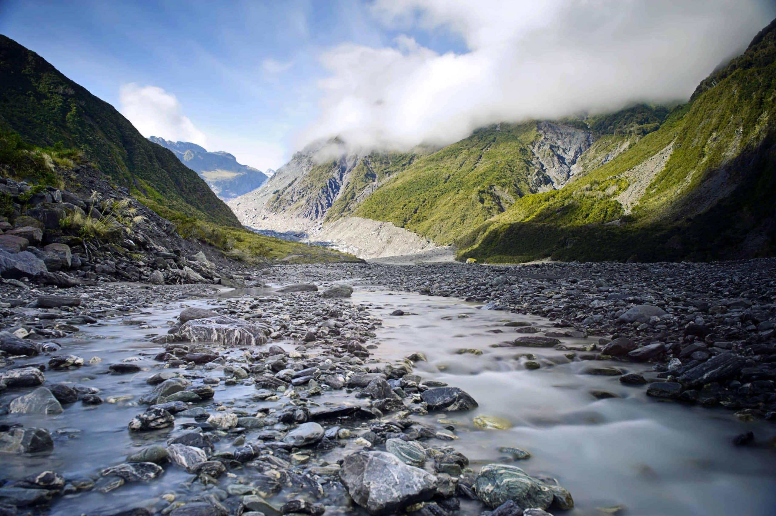 En gletsjerdal ved Franz Josef - Risskov Rejser