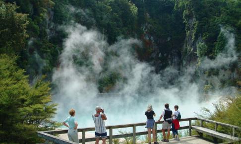 Det termiske område Waimangu - Risskov Rejser