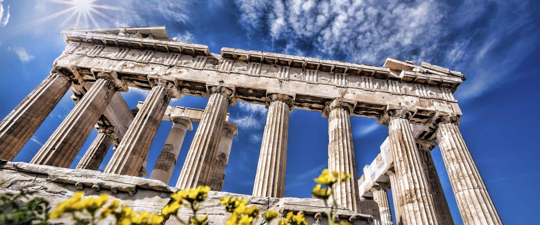 Søjlebygningen på Akropolisklippen - Risskov Rejser