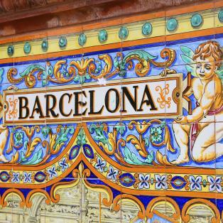 Mosaik i Barcelona