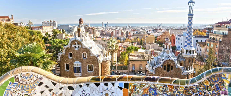 Park Guell i Barcelona, Spanien - Risskov Rejser