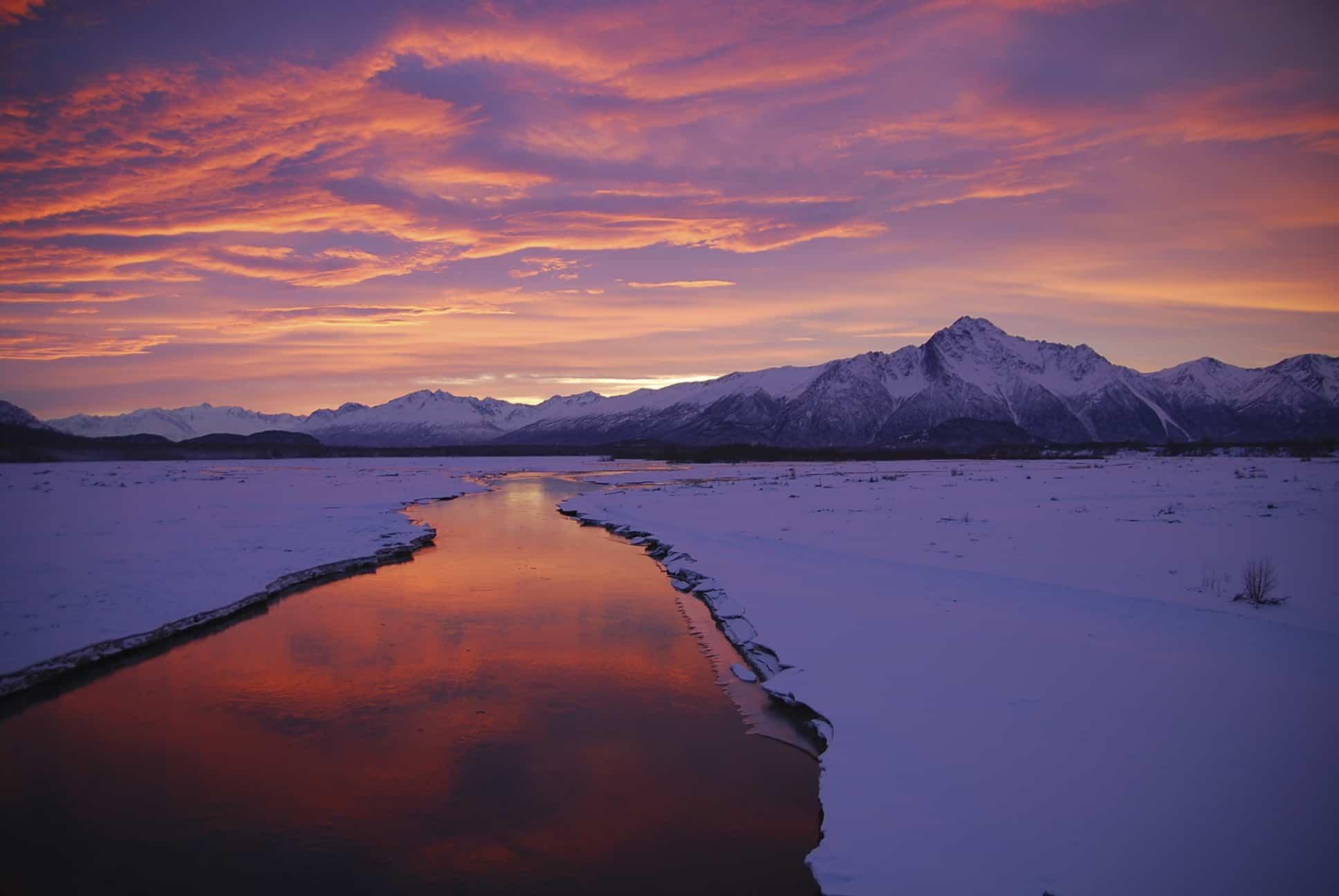 Smuk solopgang i Alaska - Risskov Rejser