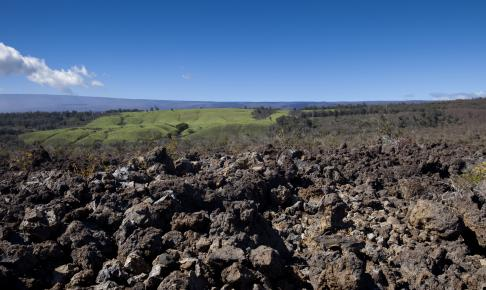 Wide Angle View of a Lava Field - Risskov Rejser