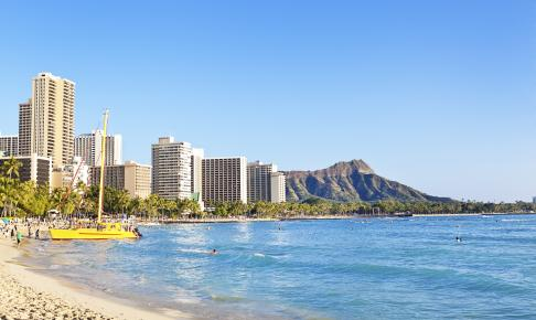 Waikiki Beach på Hawaii - Risskov Rejser