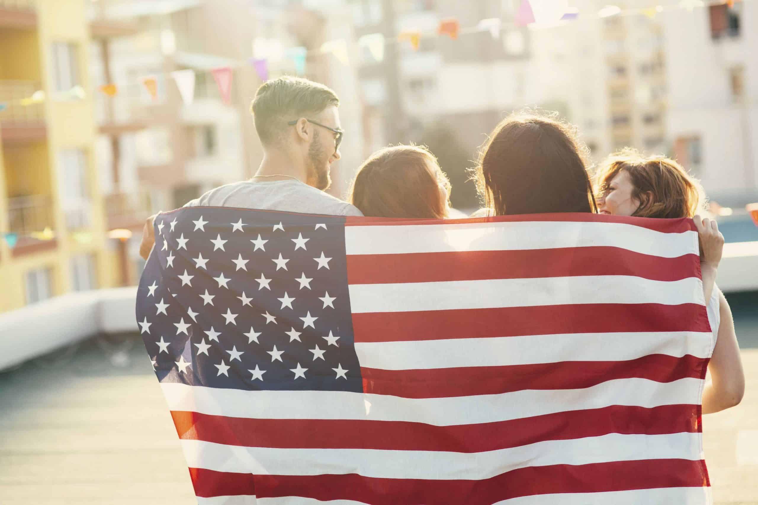 Det amerikanske flag - USA - Risskov Rejser